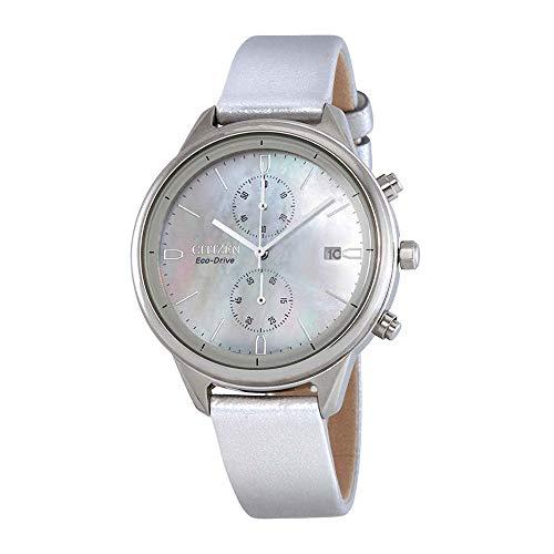 - Ladies' Citizen Eco-Drive Chandler Silver Vegan Leather Watch FB2000-03D