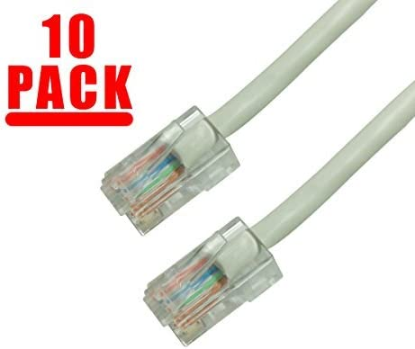 UTP GRANDMAX CAT5e 7 FT Pink RJ45 350MHz Ethernet Network Patch Cable Snagless//Molded Bubble Boot 10 Pack