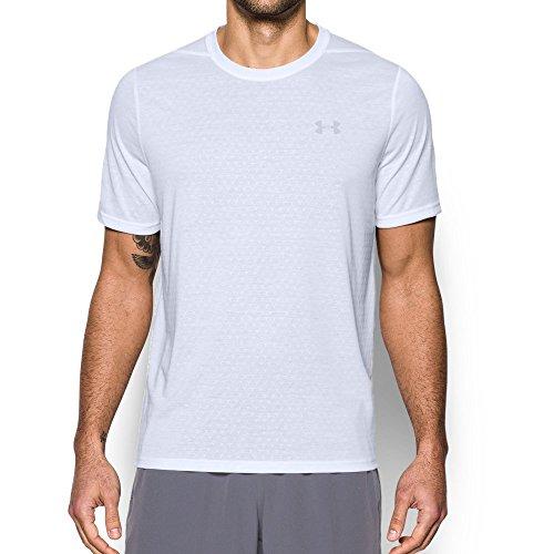 Under Armour Men's Threadborne Siro Embossed T-Shirt, White/Overcast Gray, X-Large