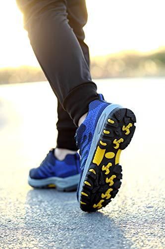 Aizeroth Sicurezza Edilizia Calzature cantiere antinfortunistiche Donna Uomo Sneaker Comodissime in da Lavoro Traspiranti Stival per Punta UK Blu Acciaio di Scarpe con S3 escursionismo Scarpe Industria da rCBr4qn