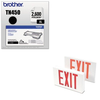 - KITBRTTN450TCO07230 - Value Kit - Tatco LED Exit Sign (TCO07230) and Brother TN450 TN-450 High-Yield Toner (BRTTN450)