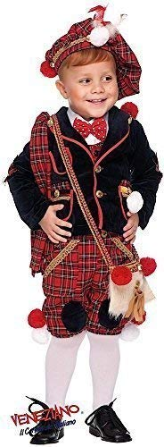Italian Made Deluxe 7 Piece Baby Toddler Boys Scottish Bagpipe Player Carnival Around the World Book Day Week Halloween Fancy Dress Costume Outfit 0-3 years (1 year) -