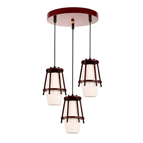 Round Wood Pendant Light in US - 6
