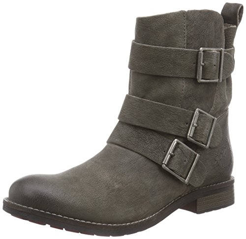 s.Oliver 25425 - botas de cuero mujer gris - gris (graphite 206)