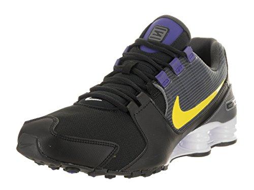 Nike Hommes Shox Avenue Chaussure De Course Noir / Electrolime