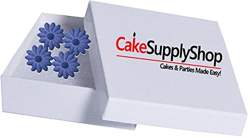 12pk Elegant Daisy Ready To Use Edible Cake / Cupcake Sugar Decoration Toppers (Purple)