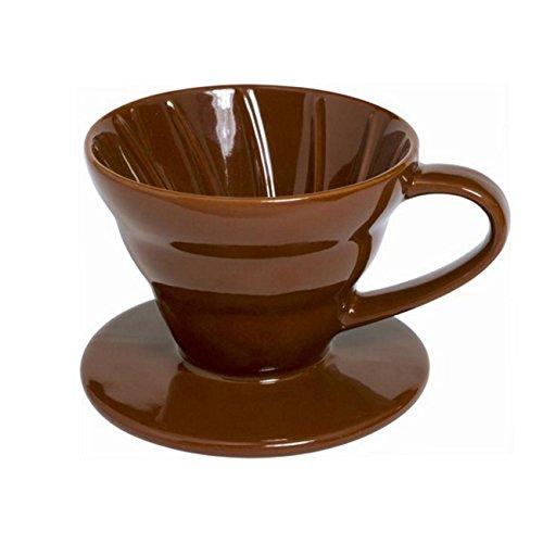 Ceramic Coffee Dripper 1-2 Cup, Brown by Supreme Housewares