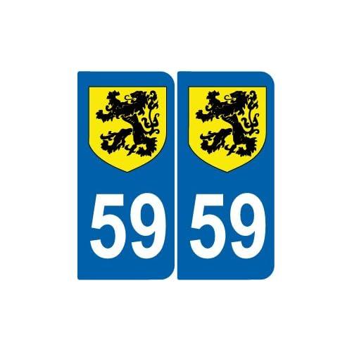 2 Stickers Autocollant style Plaque MOTO d/épartement 63