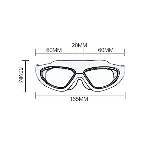 Gafas Unisex Grande Natación Adulto Blue De Gafas Antivaho Buceo Natación HD Gafas Black QY De Y De Impermeable Marco aPqwY7