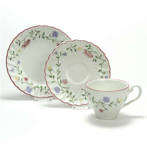 Summer Chintz by Johnson Brothers, China Cup, Saucer & Plate, Trio