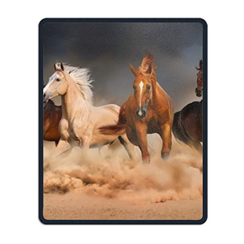 A Group of Horses Running Mouse pad - Portable Cloth Gaming Mouse Mat -Game on The Go