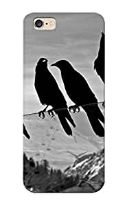 Awesome Case Cover/iphone 6 Plus Defender Case Cover(crows Animals Birds Ravens Black White Bw Glass Mountains Nature Sky ) Gift For Christmas