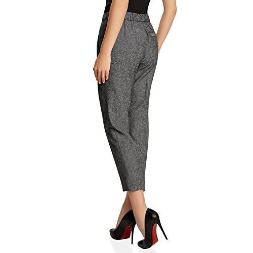 oodji Ultra Mujer Pantalones Ajustados con Elástico outlet ... cda79592f178