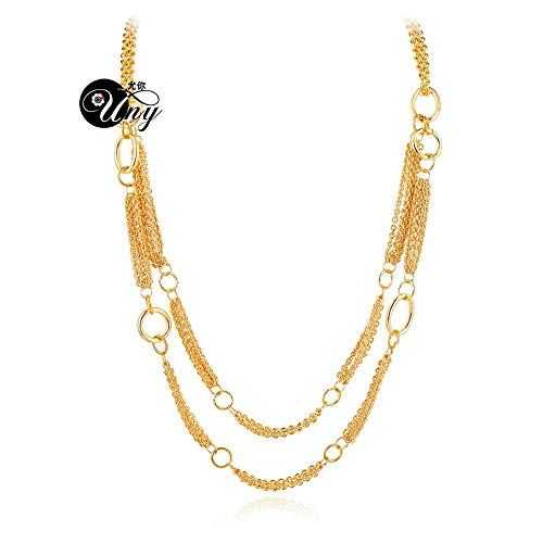 (Necklaces Designer Inspired Long Necklace 56cm 4cm Lobster Necklaces Claps Classic Elegant Double Strand Jewelry Necklace)