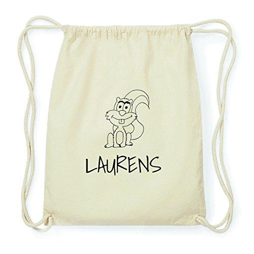 JOllipets LAURENS Hipster Turnbeutel Tasche Rucksack aus Baumwolle Design: Eichhörnchen