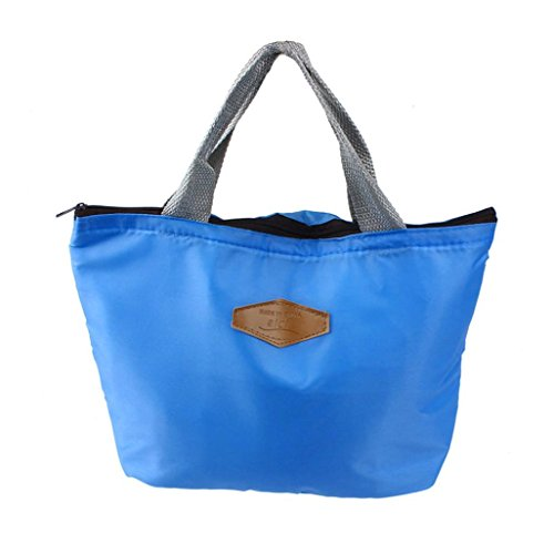 Lunch Bag,IEason Clearance Sale! Waterproof Portable Picnic Insulated Food Storage Box Tote Lunch Bag (Blue)
