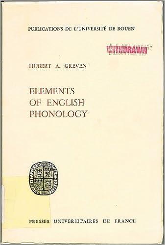 Element of English phonology pdf ebook