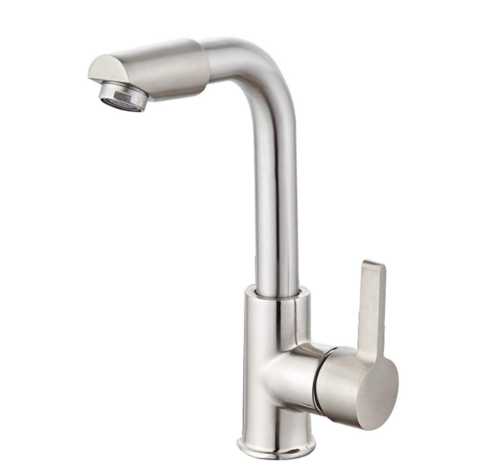 Copper Core Bathroom accessories, easy to use and user-friendl Bathroom Faucets,Solid Brass 360 Degree redating Spout Bathroom Basin Tap Washroom Countertop Washbasin Faucet XIAHE (color   Copper core)