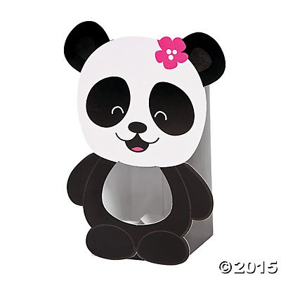 Cardboard Panda Party Treat Boxes - 12 (Panda Party Decorations)