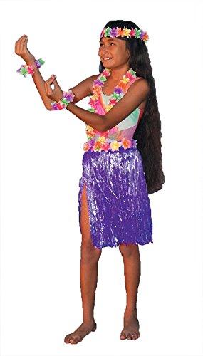 Aloha Set Child Teen Costumes (ALOHA SET PURPLE CHILD/TEEN)