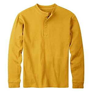 Mountain Khakis Men's Trapper Henley Shirt (Yellowtail, Medium)
