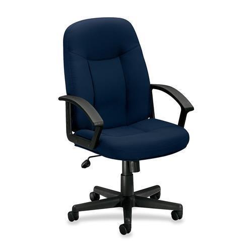 VL601VA90 Basyx by HON VL601 Mid Back Management Chair - Navy - Fabric Navy Blue Seat - Black Frame - 33.5