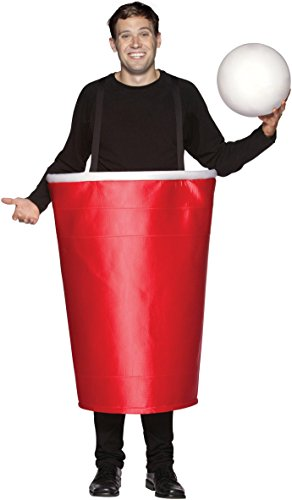 Rasta Imposta Beer Pong Cup Costume, Red, One (Red Solo Cup Costume For Sale)