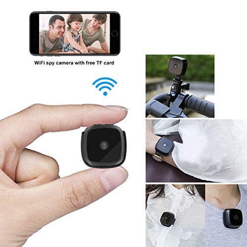 Mini Spy Hidden Camera, Suntee WiFi Hidden Camera Portable Home Security Cameras Covert Small Nanny Cam, Live Streaming with iPhone/Android Phone, Most Complete Accessories for Indoor Outdoor