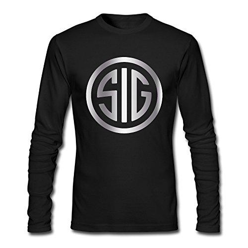 Men's Sig Sauer Firearms Sig Platinum Logo Long Sleeve T-shirts - Firearms Sig