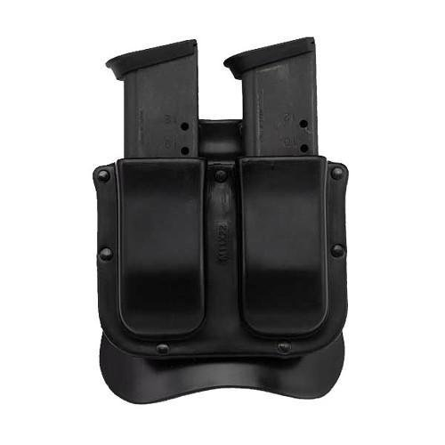 Galco Single Mag Case - Galco M11X Matrix Double Mag Case for 9mm.40.357 Sig Staggered Polymer Magazines and S&W M&P 9mm.40 Metal Magazines (Black, Ambi)
