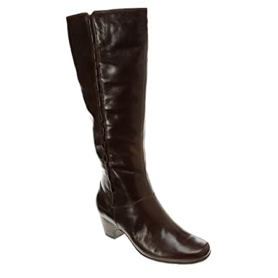 Clarks Women's Cardy Cafe Brown Leather 12 N US