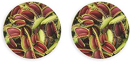 Abrebotellas redondas de plantas carnívoras / Imanes de nevera Sacacorchos de acero inoxidable Etiqueta magnética 2 piezas