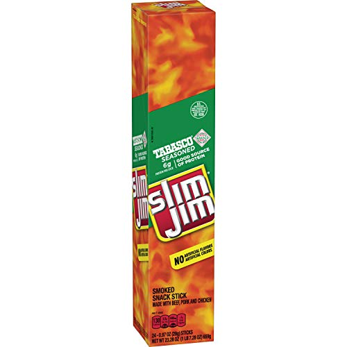 Slim Jim Giant Smoked Snack Sticks, Tabasco, .97 Oz. ()