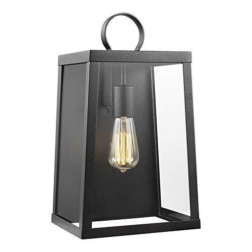(Sea Gull Lighting 8737101-839 Large One Light Outdoor Wall Lantern, Blacksmith)