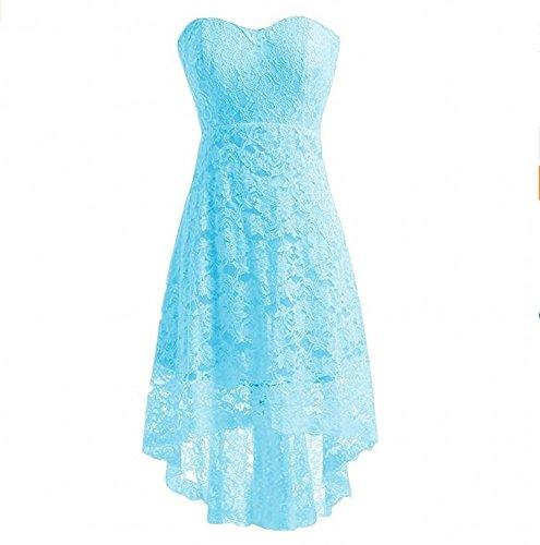 Dentelle Bustier Femmes Beauté Robes Courtes Ak Bal Du Soir Bleu Ciel