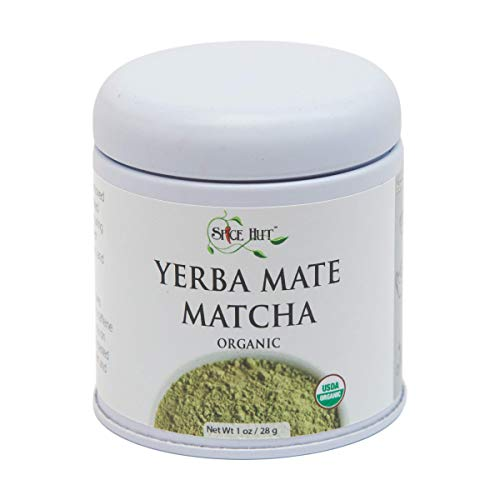 Spice Certified Organic (The Spice Hut Organic Matcha Yerba Mate Tea, Pure Organic USDA Certified 1 oz, 1 Ounce)