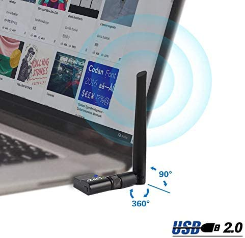 EDUP USB WiFi Adapter Dual Band Wireless Network Adapter 802.11 AC 2.4G/5G USB Wi-Fi Dongle with Extender Antenna Compatible with Windows XP/Vista /7/8.1/10, Mac OS X 10.7-10.15