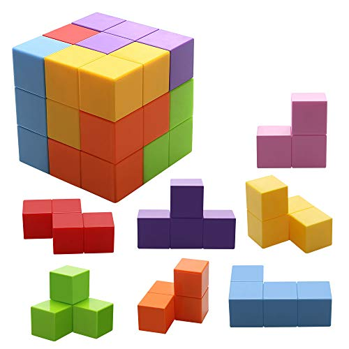 - Magnetic Toys Magic Cubes Stress Relief for Adults Magnet Blocks for Kids Magnetic Building Blocks Bricks Toy Educational Puzzles