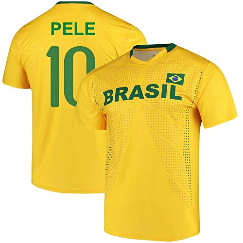 aad6ab12dcf OnTheField Pele Brazil National Team Replica Jersey (Youth Large (14-16))