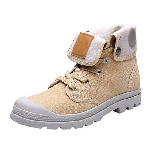 YiJee Unisex Freizeit Schuhe Flache Stiefel Verdickung Warm Schneestiefel Hell Gelb