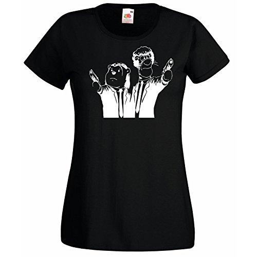 L'ourson Avec T Femmes Winnie Style Cartoon shirt En Noir Tigre Pulp Fiction 1a1qCBw
