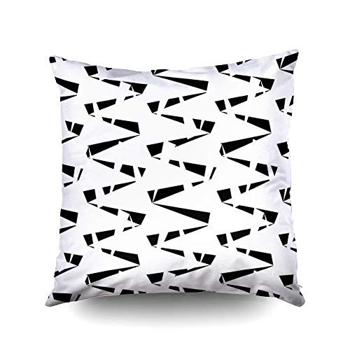 (Sofa Pillows Covers,Seamless pattern with zigzag lines Triangular waves ornament Jagged stripes Triangle shapes background Repeated chevrons wallpaper Triangles image Digital paper textile print Vecto)