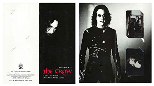 Brandon Lee - The Crow Limited Edition Pre-paid Phone Cards Licensed RETIRED 1997 bx3