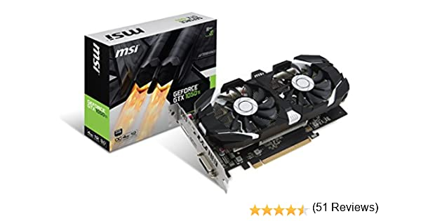 MSI GeForce GTX 1050 Ti 4GT OC - Tarjeta Gráfica Pro: Msi: Amazon ...