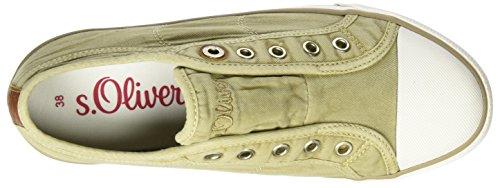 Damen s Sneakers Oliver Grün 324 24635 Pepper C4R57q4wU
