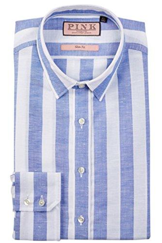 thomas-pink-sutherland-slim-fit-stripe-dress-shirt-mens-white-blue-size-16