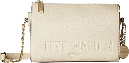 Embossed Handbag Beige - Steve Madden Women's Blexi Embossed Logo Bone One Size