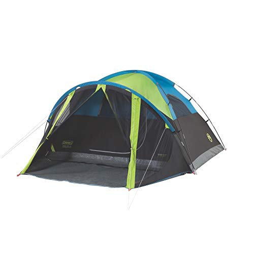 Coleman Dome Camping Tent with Screen Room | Carlsbad Dark Room Camping Dome Tent with Screened Porch Early Light 2 Person Tent