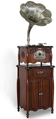 Gramophone Vinyl Record Player With Speakers And Stand, 3 Sp