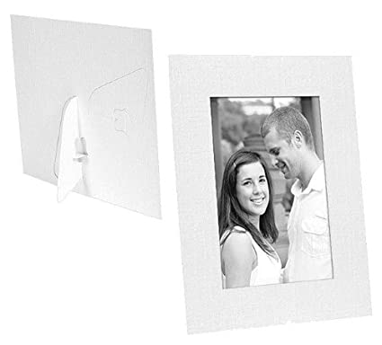 Amazon.com - White cardstock photo DUAL EASEL frame w/plain border ...
